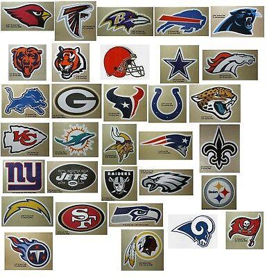 Football Designs Football Sticker (NFL Football Decal Sticker Team Logo Designs Licensed Choose from all 32)
