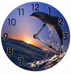 JUMPING DOLPHIN Clock - Large 10.5 Wall Clock - 2038