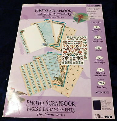New Nature Series 8-1/2 x11 20 Pgs 4 Border 4 Design White Stickers Scrapbooking