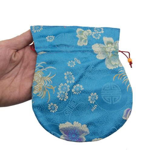 Big/Large Clutch Bag Tibetan For Mala Rosary Bourse Fabric Brocade Blue 9196