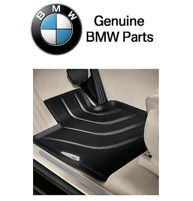 For BMW F15 F16 X5 X6 Set of 2 Front Black All Weather Rubber LHD Floor Mats OES