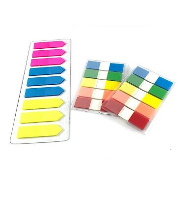 Assorted Color Fluorescent Memo Index Sticky Tabsnotes 3 Packs 380 Pcs
