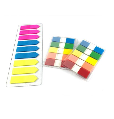 Assorted Color Fluorescent Memo Index Sticky Tabs/Notes, 3 Packs, 380 pcs