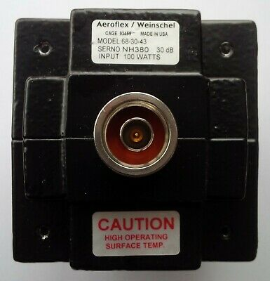 Aeroflex Weinschel Mod. 68-30-43 30db 100w Dc-4ghz Fixed Attenuator Used