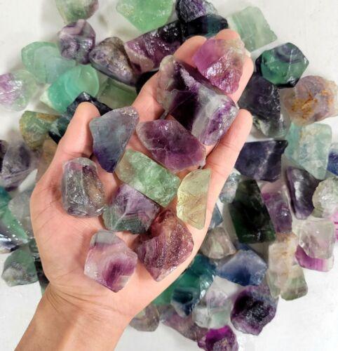 Raw Fluorite Crystals - Bulk Rough Stones - Healing Crystals Natural Gemstones