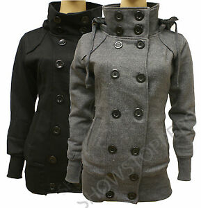 NEW-Womens-MILITARY-Ladies-JACKET-COAT-Black-and-Charcoal-Grey-Size-8-10-12-14