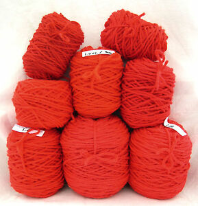 (8) Center-Pull Cakes Acrylic Yarn ~ ASSORTED REDS • 9.6 oz. Lot B