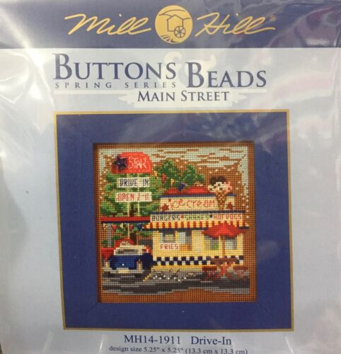 Mill Hill Buttons & Beads Cross Stitch Kit Drive In movies p
