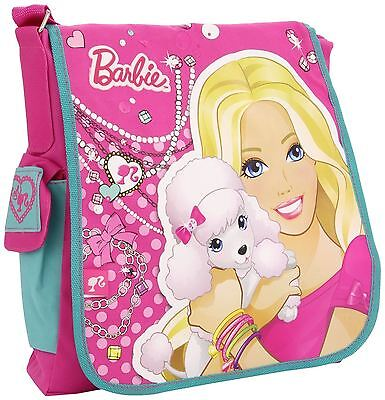 Barbie Girl Chic Pink Messenger School Bag Trendy Gift Kids Children Travel Xmas