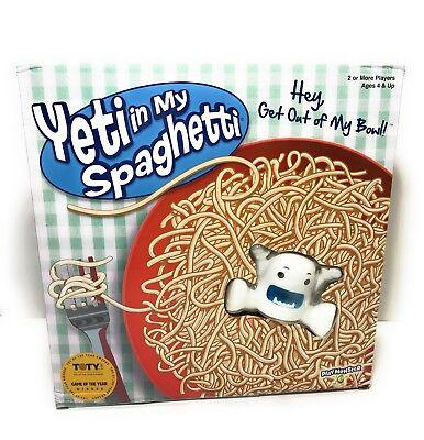 Yeti In My Spaghetti Toy Board Game New