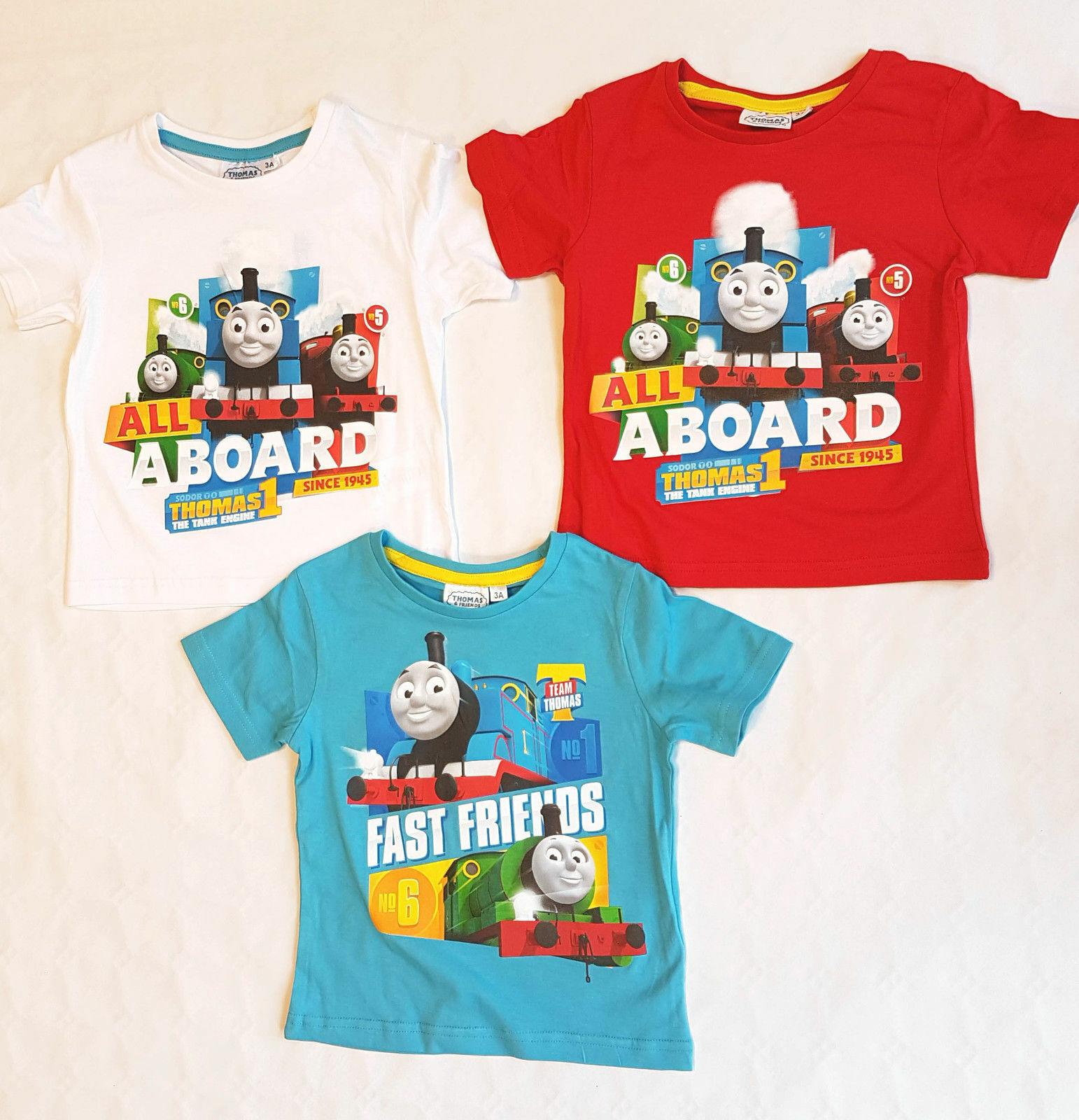 Thomas und  seine Freunde Kinder Jungen kurzarm T-Shirt Gr. 92-110 Shirt  neu!