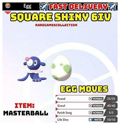 Pokemon Sword & Shield ✨SHINY✨ POPPLIO EGG 6IV MODEST FAST DELIVERY