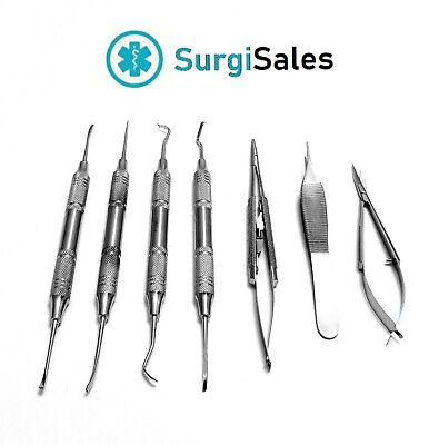 7 Micro Surgery Instruments Set Dental Surgical Medical Implant Dentistry German