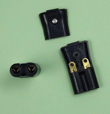 Japan Eurobuchse IEC-320 C7 250V 2,5A Gerätekupplung schwarz zum Löten