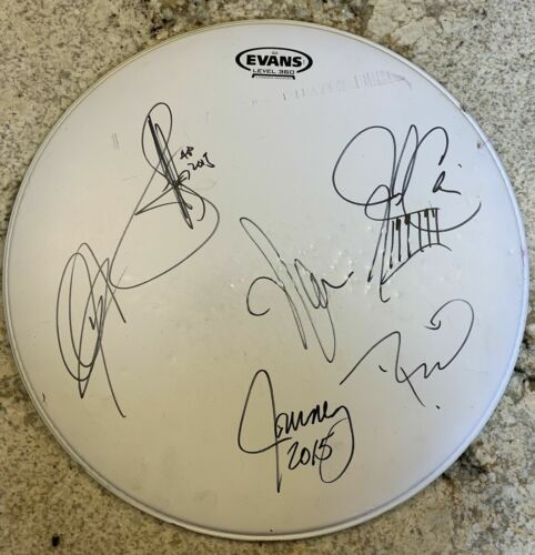 Journey Band Autographed Snare Drum Cover From 2015 Lineup - Very Good Condition