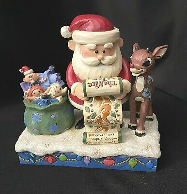 Jim Shore Christmas Rudolph Traditions Santa and Rudolph Misfit Toys F6004143