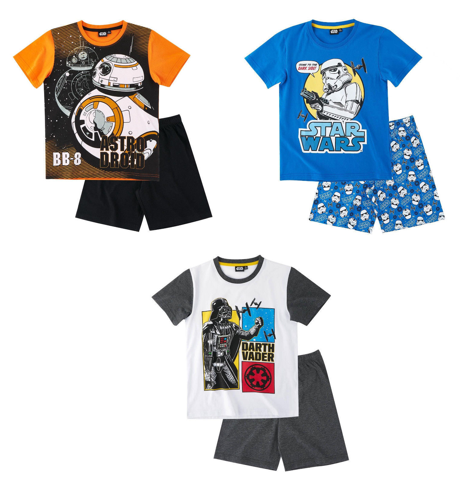 0d3e69f512 Star Wars Kinder Jungen Shorty Pyjama 116-152 Schlafanzug kurz Nachtwäsche  neu!*