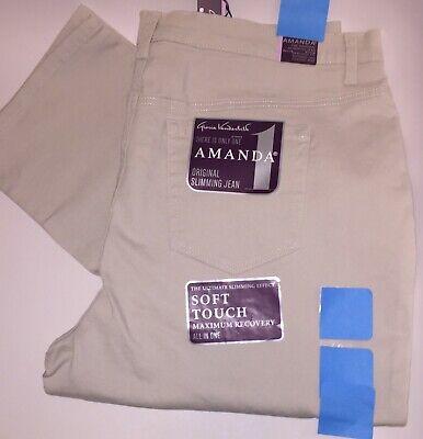 NWT Gloria Vanderbilt  Slimming Amanda Soft Touch Jeans Stone Size 20W Short