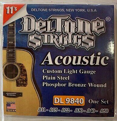 Deltone Acoustic Guitar Strings 11-50 Juego De Cuerdas Metal Para Guitarra. Metal Guitar Strings