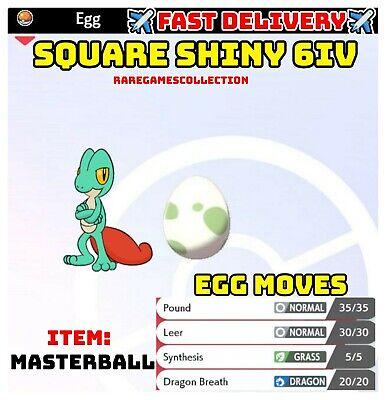 Pokemon Sword & Shield ✨SHINY✨ TREECKO EGG 6IV TIMID FAST DELIVERY