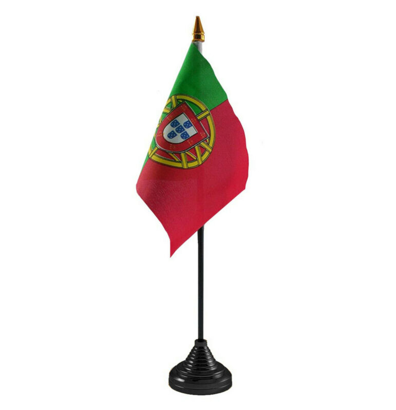 PORTUGAL TABLE DESKTOP FLAG Portuguese LISBON FARO PORTO EUROPE EUROPEAN IBERIA