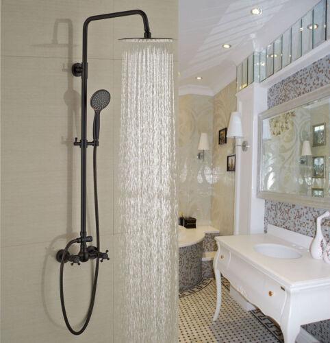 Gold Color Brass Bathroom Round Rain Shower Faucet Set Bathtub Mixer Tap Egf381