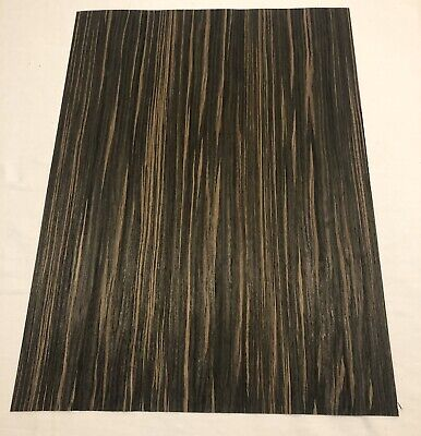 Composite Macassar Ebony Wood Veneer 142 Thick. 1 Sheet 22 X 16 2 Sq Ft