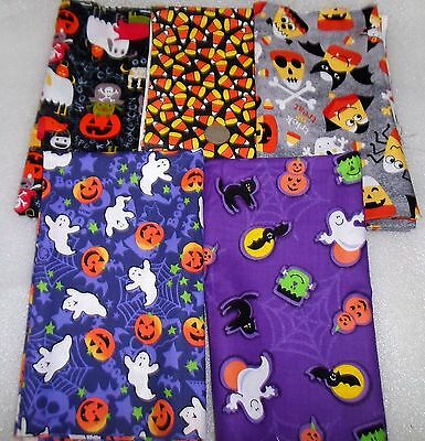 5 HALLOWEEN THEMED Fat Quarters GHOSTS CANDY CORN, DOGS, TRICKorTREAT Bundle T12 (Fat Halloween Kid)