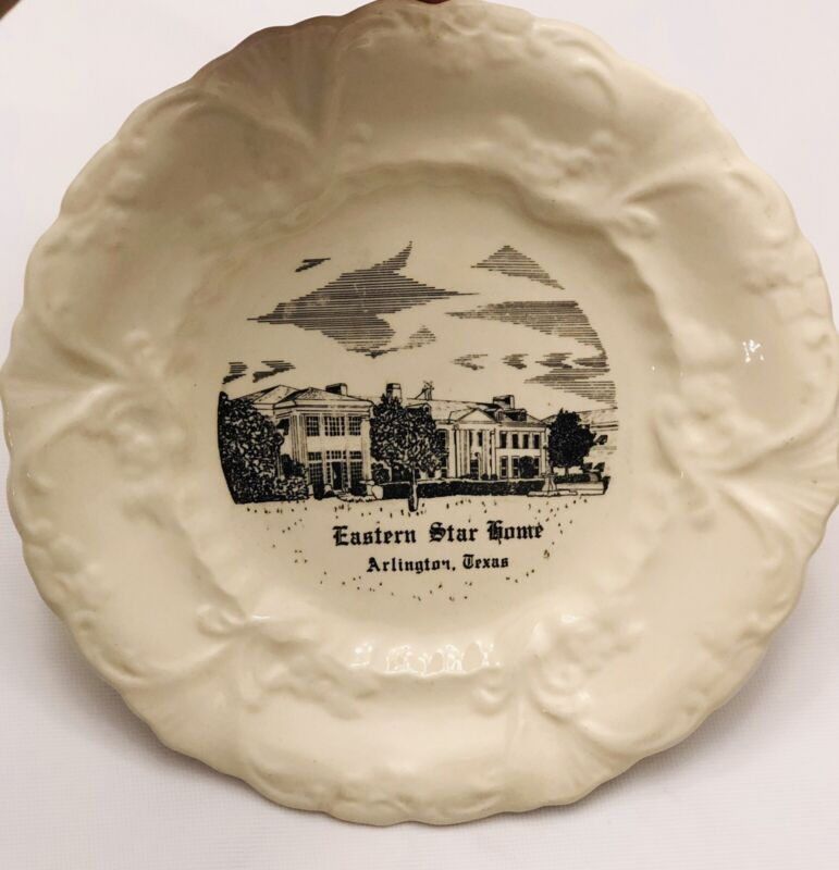 Eastern Star Home Plate Souvenir W/ Hanging Spring Vintage Classic Masonic Mason