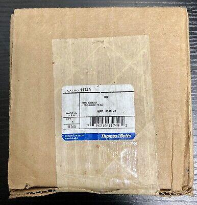 Thomas Betts Tb 11749 106 750 Cu Crimper Crimping Crimp Die Hydraulic 12 Ton