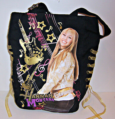 Black Disney HANNAH MONTANA Miley Cyrus TOTE Shoulder BAG Handbag Purse NEW! Hannah Montana Purse Handbag