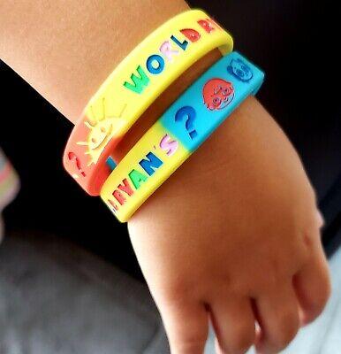 Movie Themed Birthday (RYANS World Toy Review Bracelets wristband debossed gel theme Birthday Party)