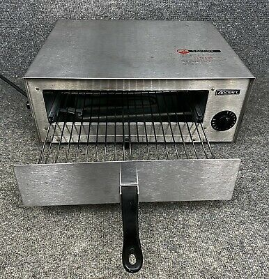 Adcraft Ck-2 Snack Oven Countertop Electric Stainless Steel In Euc