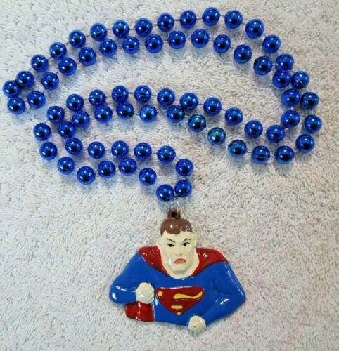 "NEW!  SHARP ""SUPERMAN"" MARDI GRAS NECKLACE BEAD SMALLVILLE CLARK KENT  (B323)"