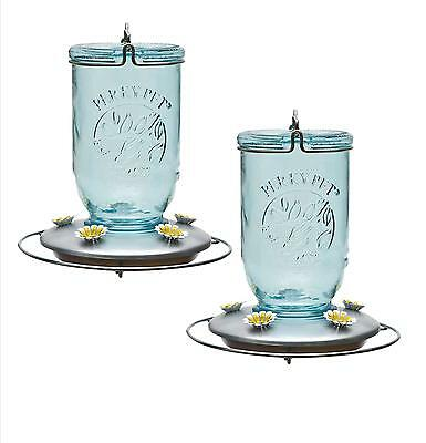 Woodstream 2 Perky Pet Glass Mason Jar 32 Ounce Hummingbi...