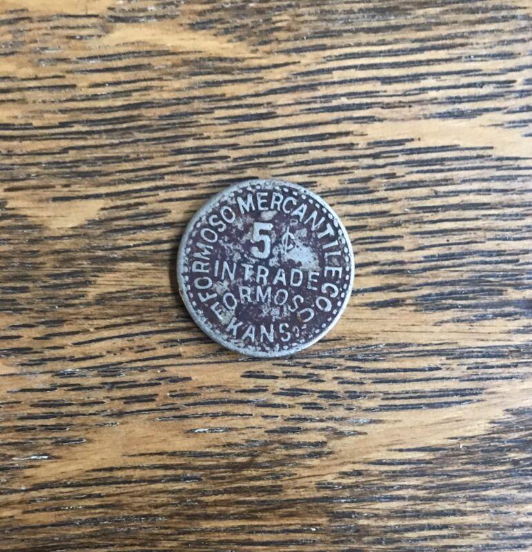 Formoso Kansas Mercantile Co. Antique Trade Token
