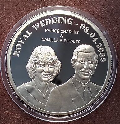 2005 Cook Island $5 Silver proof Commemorating the Royal Wedding