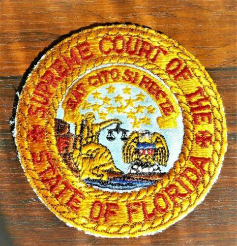GEMSCO NOS Vintage Patch STATE of FLORIDA SUPREME COURT FL -Original 70 year old