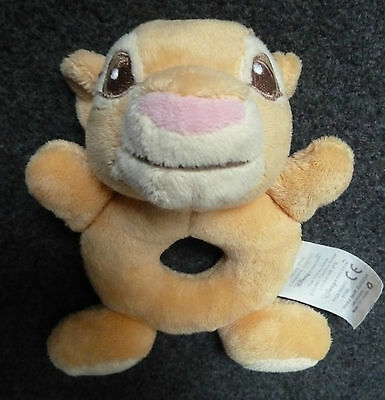 Disney Store Lion King Simba Brown Baby Hand Held Rattle Soft Toy 6