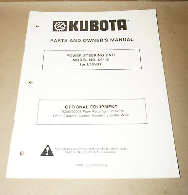 Kubota Power Steering Unit L9110 For L185dt Parts Owners Manual 70090-00204