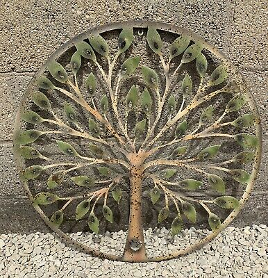 Large Colourful Metal Tree Of Life Garden Wall Art Garden Ornament