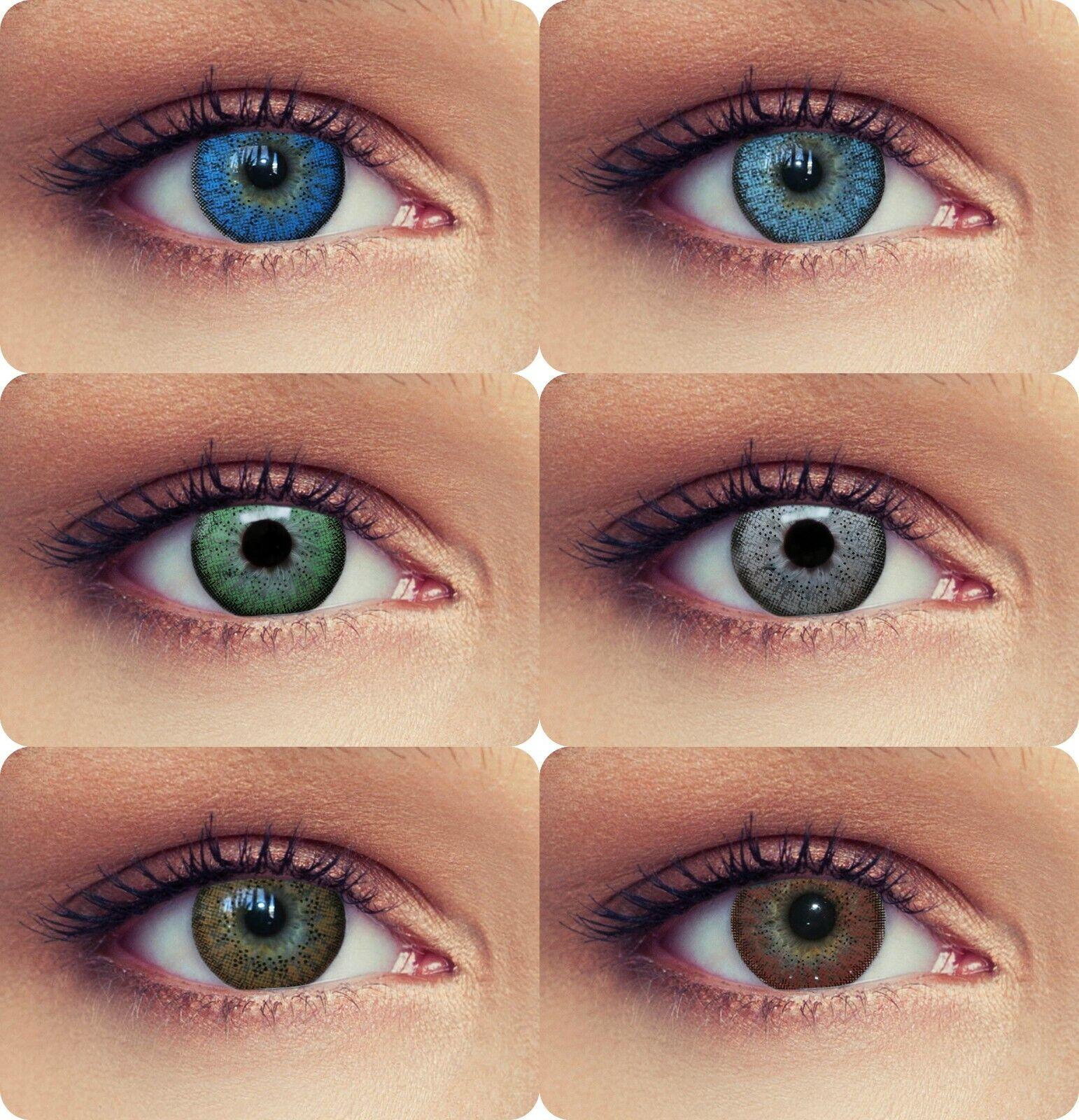 Natürlich wirkende farbige Kontaktlinsen blau grün mit oder ohne Stärke #Natural