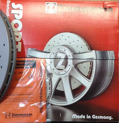 Zimmermann SPORT Bremsscheiben VA vorne - 2 Stück - 312 mm GELOCHT beschichtet