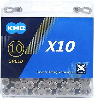 KMC X10 10-Speed Stretch-Proof Bike Chain Road MTB X10.93 fit Shimano SRAM Campy 10 Speed Road Chain