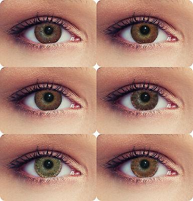 Designlenses braune/ Haselnuss farbige Kontaktlinsen 3 Monatslinsen 5 Designs!!!