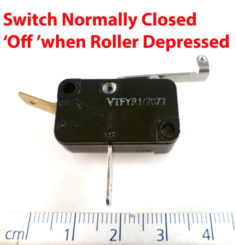 Burgess VTFYR Roller Micro Switch 10A 250VAC SPNC ON/OFF OM0618