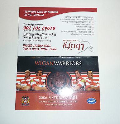 WIGAN WARRIORS 2006 FIXTURE LIST