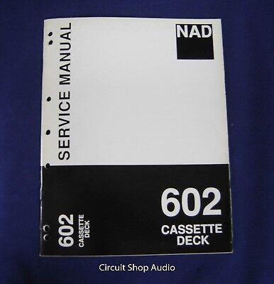 Original NAD 602 Cassette Deck Service Manual, used for sale  Shipping to Canada