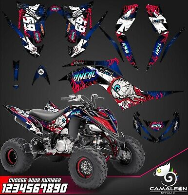 Yamaha Raptor 700R graphics kit 2013 2019 decals stickers kit (Atv Graphics)