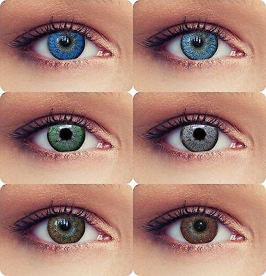 Natürlich wirkende farbige Kontaktlinsen mit Stärke grün blau - Grüne Farbige Kontaktlinsen